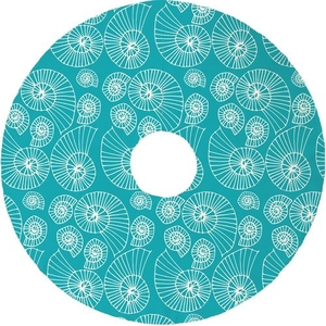 Nautilus Outline Christmas Tree Skirt - Light Turquoise