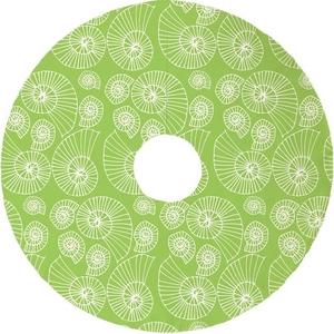 Nautilus Outline Christmas Tree Skirt - Lime