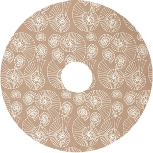 Nautilus Outline Christmas Tree Skirt - Tan