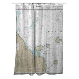 Bar Harbor, ME Nautical Chart Shower Curtain