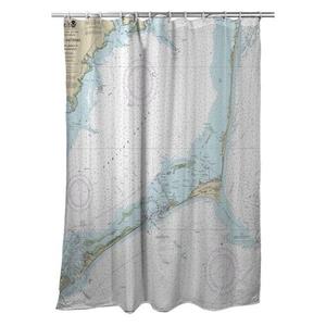 Cape Hatteras, NC Nautical Chart Shower Curtain