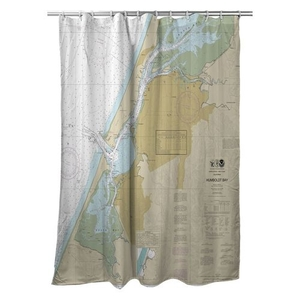 Eureka, Humboldt Bay, CA Nautical Chart Shower Curtain