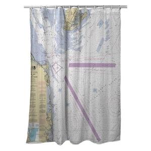 Cape May, NJ to Fenwick Island, DE Nautical Chart Shower Curtain