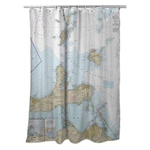 Lake Erie South Passage, Sandusky Bay, OH Nautical Chart Shower Curtain