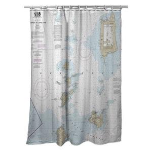 Pelee Island, ON;  Bass Islands, Kelleys Island, OH Nautical Chart Shower Curtain