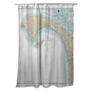 Provincetown, MA Nautical Chart Shower Curtain