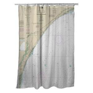 Little River Inlet, NC to Winyah Bay Entrance, SC Nautical Chart Shower Curtain