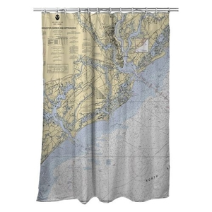 Charleston Harbor and Approaches, SC Nautical Chart Shower Curtain
