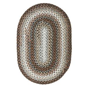 "Homespice Decor 27"" x 45"" Oval Midnight Moon Ultra Durable Braided Rug"