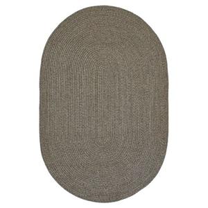 "Homespice Decor 27"" x 45"" Oval Smoke Ultra Durable Braided Rug"