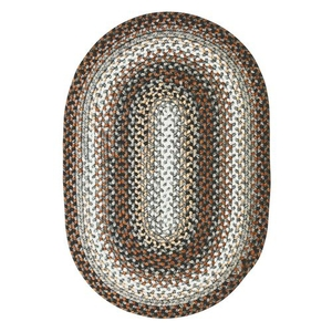 Homespice Decor 4' x 6' Oval Midnight Moon Ultra Durable Braided Rug