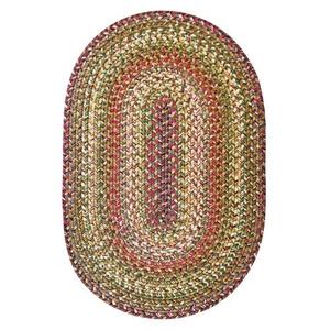 Homespice Decor 6' x 9' Oval Rainforest Ultra Durable Braided Rug
