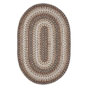 Homespice Decor 6' x 9' Oval Wildwood Ultra Durable Braided Rug