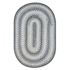 Homespice Decor 6' x 9' Oval Graphite Ultra Durable Braided Rug