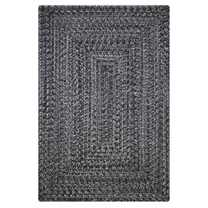 "Homespice Decor 27"" x 45"" Rect. Black Ultra Durable Braided Rug"