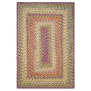 Homespice Decor 4' x 6' Rect. Rainforest Ultra Durable Braided Rug