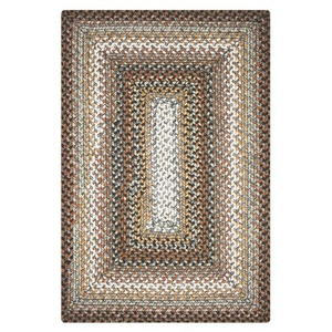 Homespice Decor 4' x 6' Rect. Midnight Moon Ultra Durable Braided Rug