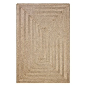 Homespice Decor 6' x 9' Rect. Biscuit Ultra Durable Braided Rug
