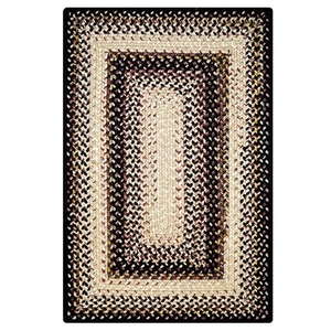 Homespice Decor 8' x 10' Rect. Black Mist Ultra Durable Braided Rug