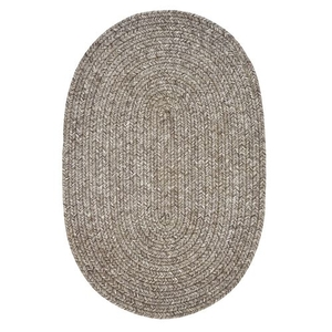 "Homespice Decor 20"" x 30"" Oval Slate Ultra Durable Braided Rug"
