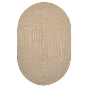 "Homespice Decor 20"" x 30"" Oval Biscuit Ultra Durable Braided Rug"