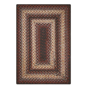 "Homespice Decor 20"" x 30"" Rect. Montgomery Ultra Durable Braided Rug"