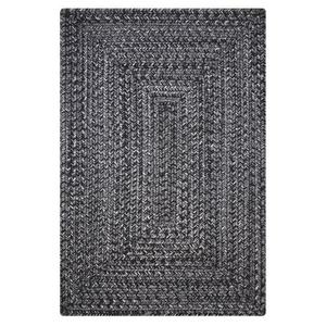 "Homespice Decor 20"" x 30"" Rect. Black Ultra Durable Braided Rug"