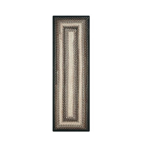 "Homespice Decor 22"" x 72"" Rect. Black Mist Ultra Durable Braided Runner"