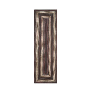 """Homespice Decor 22"""" x 72"""" Rect. Montgomery Ultra Durable Braided Runner"""