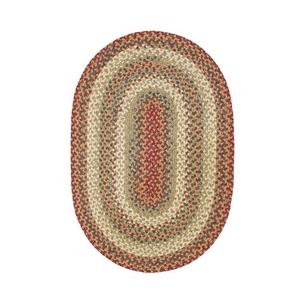 "Homespice Decor 27"" x 45"" Oval Pumpkin Pie Cotton Braided Rug"