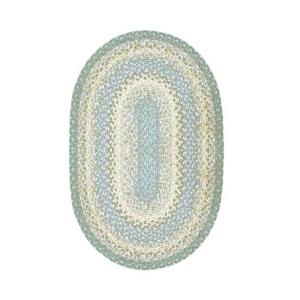 Homespice Decor 5' x 8' Oval Baja Blue Cotton Braided Rug