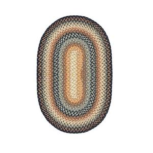 Homespice Decor 6' x 9' Oval Cocoa Bean Cotton Braided Rug