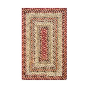 "Homespice Decor 27"" x 45"" Rect. Pumpkin Pie Cotton Braided Rug"