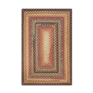 "Homespice Decor 27"" x 45"" Rect. Peppercorn Cotton Braided Rug"