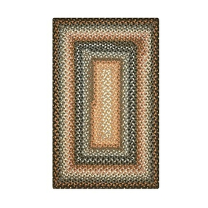 "Homespice Decor 27"" x 45"" Rect. Cocoa Bean Cotton Braided Rug"