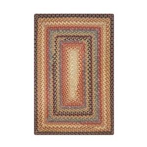 Homespice Decor 6' x 9' Rect. Peppercorn Cotton Braided Rug