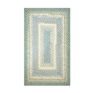 Homespice Decor 6' x 9' Rect. Baja Blue Cotton Braided Rug