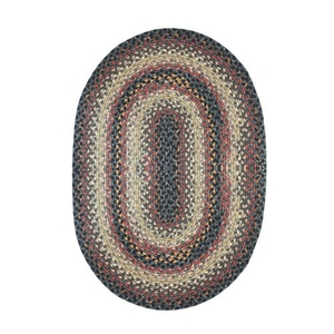 "Homespice Decor 20"" x 30"" Oval Enigma Cotton Braided Rug"