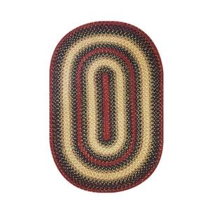 "Homespice Decor 27"" x 45"" Oval Highland Jute Braided Rug"