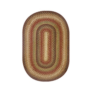 "Homespice Decor 27"" x 45"" Oval Gingerbread Jute Braided Rug"