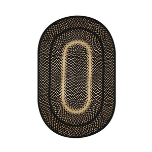 Homespice Decor 4' x 6' Oval Manchester Jute Braided Rug