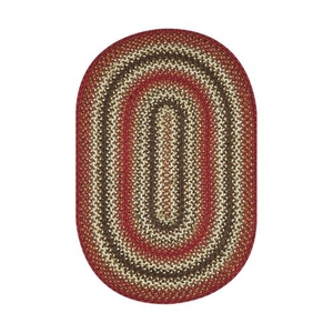 Homespice Decor 6' x 9' Oval Chester Jute Braided Rug