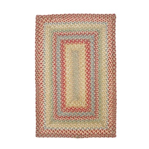"Homespice Decor 27"" x 45"" Rect. Azalea Jute Braided Rug"