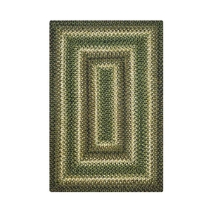 Homespice Decor 4' x 6' Rect. Pinecone Jute Braided Rug
