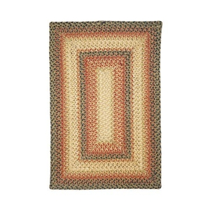 Homespice Decor 5' x 8' Rect. Russett Jute Braided Rug