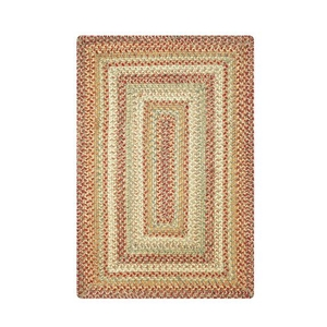 Homespice Decor 6' x 9' Rect. Harvest Jute Braided Rug