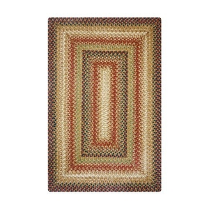 Homespice Decor 6' x 9' Rect. Gingerbread Jute Braided Rug
