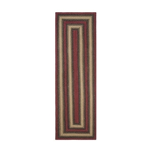 "Homespice Decor 22"" x 72"" Rect. Highland Jute Braided Runner"
