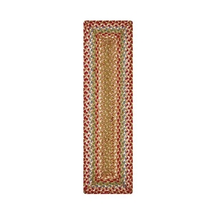 "Homespice Decor 11"" x 36"" Table Runner Rect. Azalea Jute Braided Accessories"