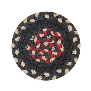 "Homespice Decor 4"" Coaster Round Primitive Star Gloucester Jute Braided Accessories"